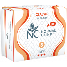 Прокладки 3 капли Classic Silk&Dry Normal Clinic